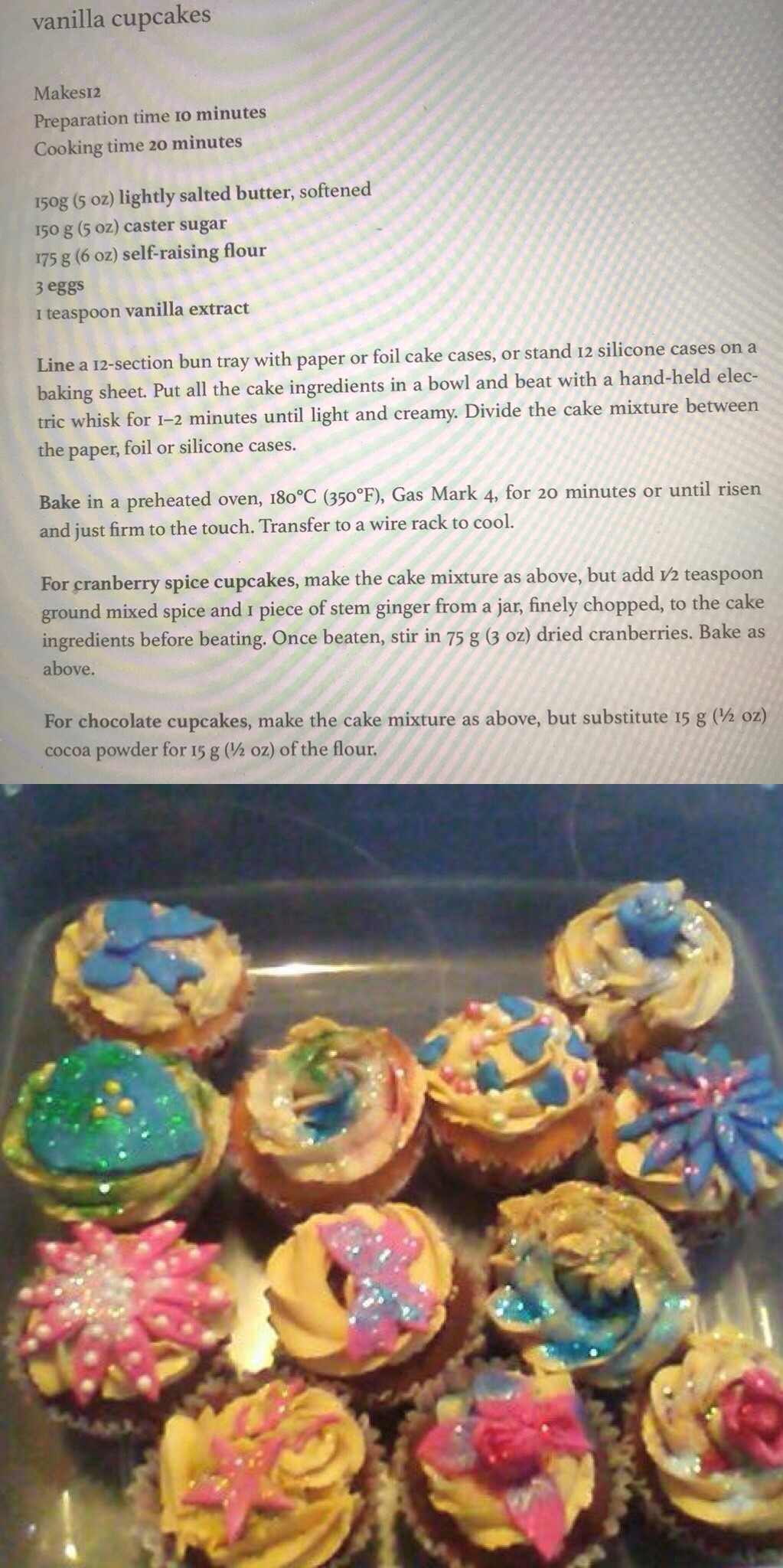 Cupcakes made by children