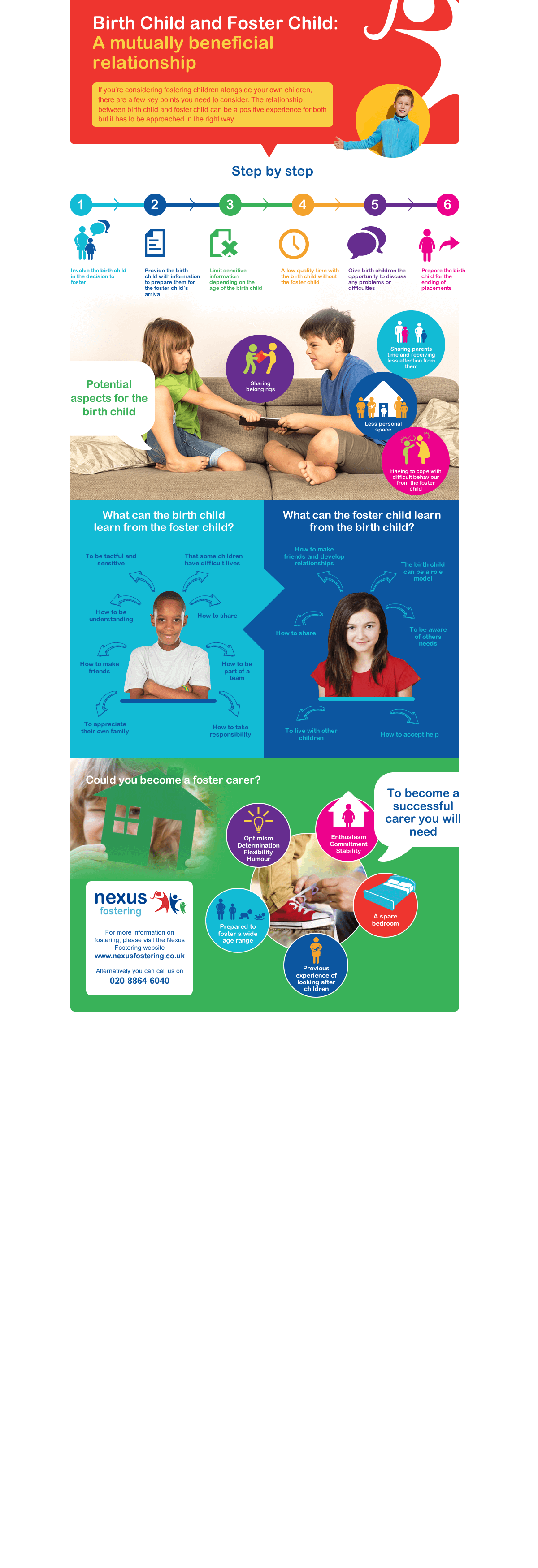 Birth Child and Foster Child Infographic
