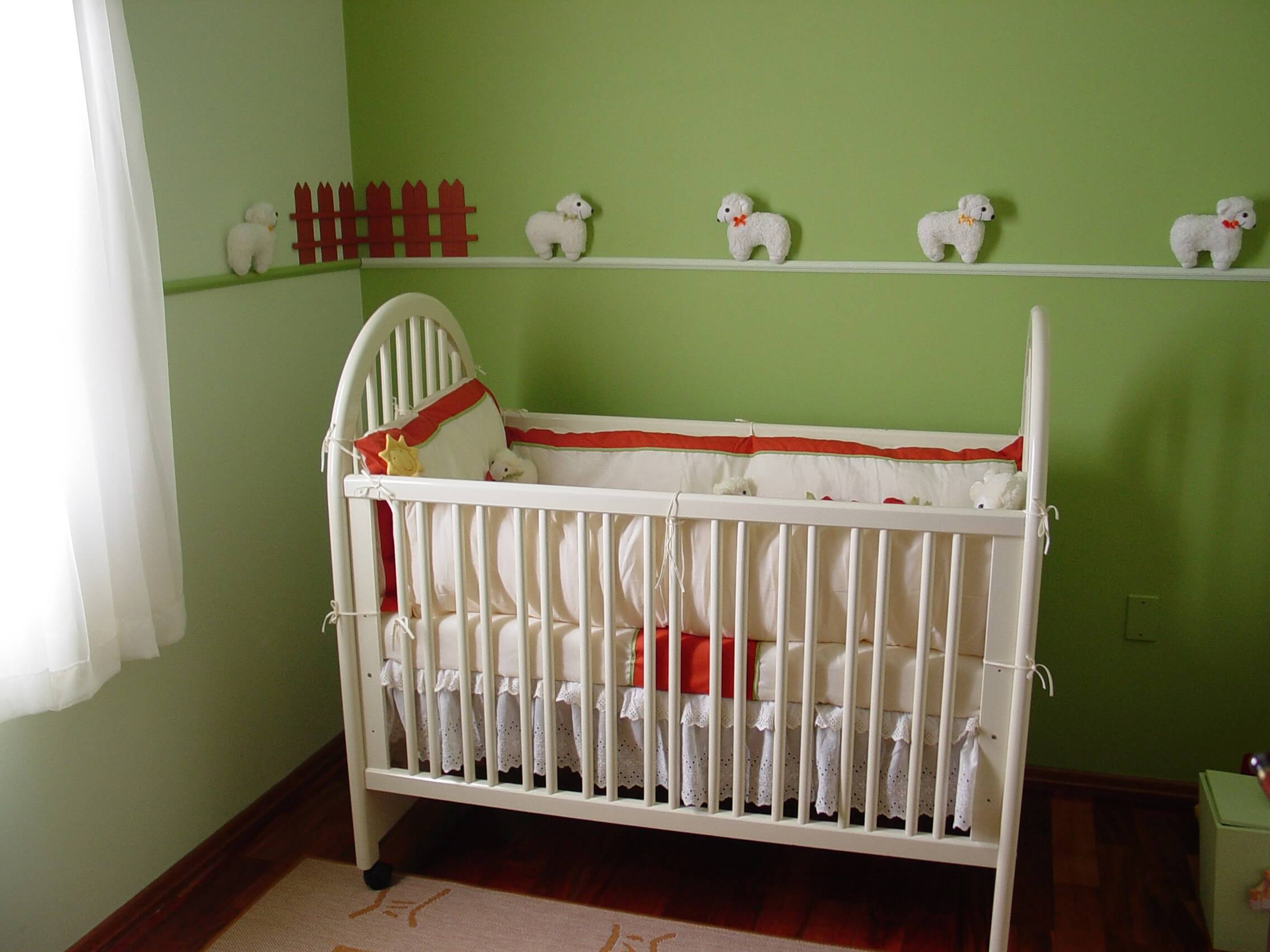 Cot in a room