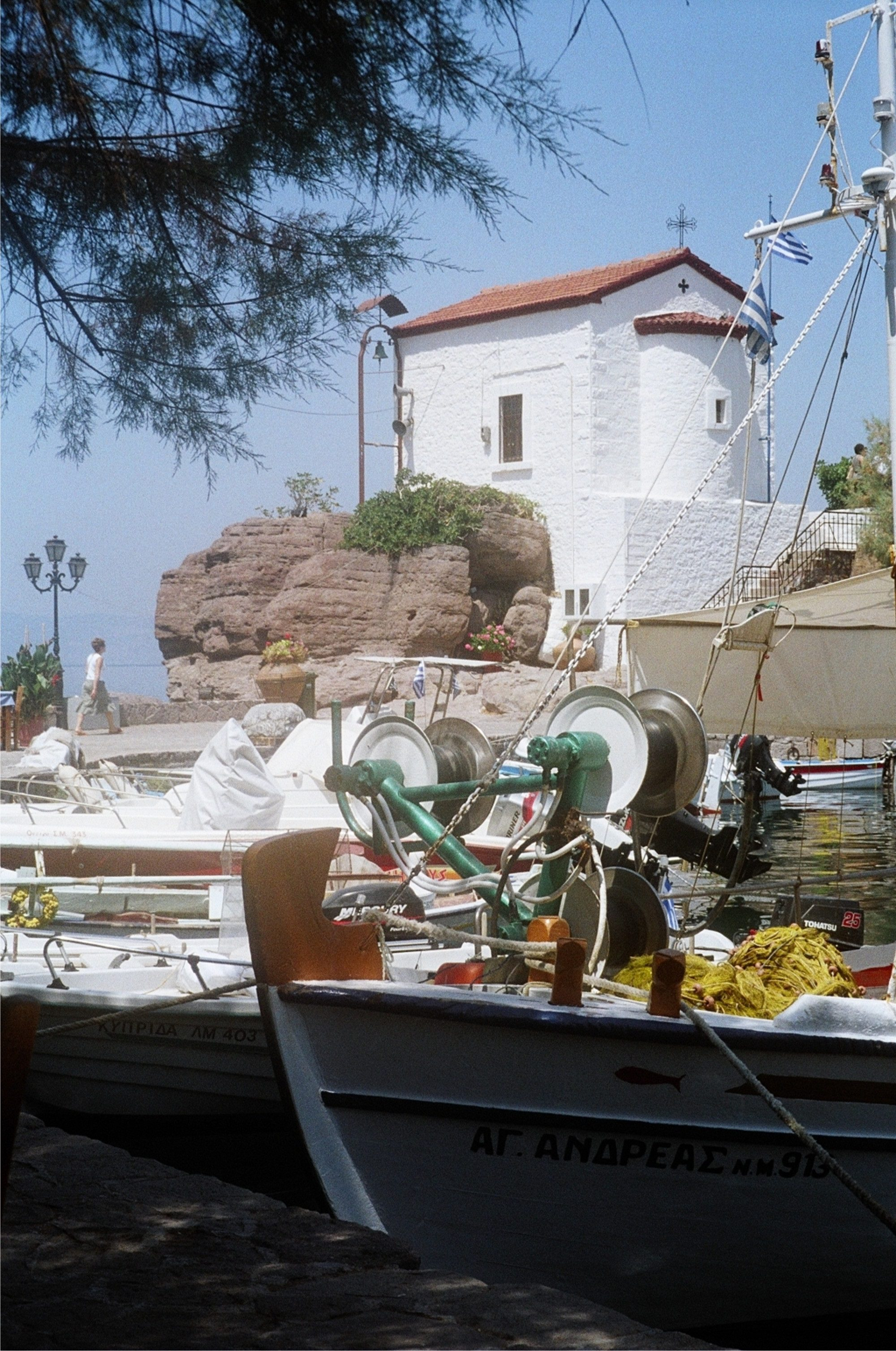 A scene from the beautiful Greek island of Lesvos